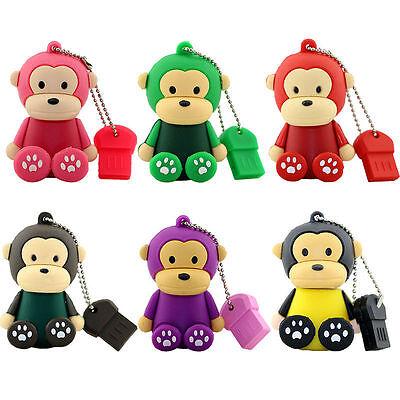 Cute monkey model USB 2.0 Memory Stick Flash pen Drive 4GB 8GB 16GB 32GB USB298