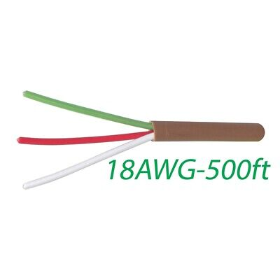 Logico 18-3 Thermostat Wire 18-gauge Copper Cmr Heating Ac Hvac Cable 500ft