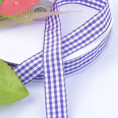 3 Yards Ivory Country Gingham Plaid Wired Ribbon 3 - Ivory Ribbon