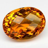26.25ct EXCELLENT OVAL CHECKERBOARD CITRINE