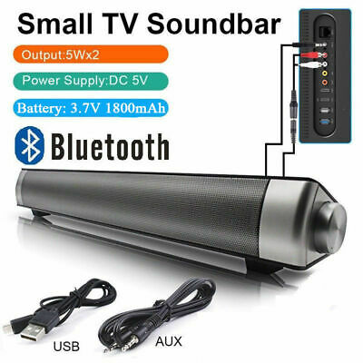 Inalámbrica Bluetooth Barra de Sonido Altavoz TV Home Theater Soundbar