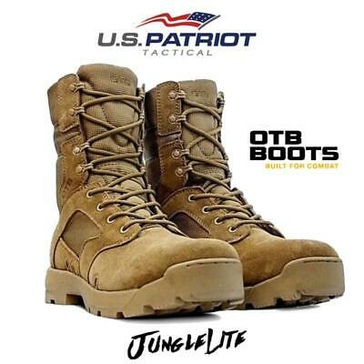 Mens OTB Desert Army Combat Patrol Boots Tactical Cadet Military Tan |UK 5-11| - Desert Army