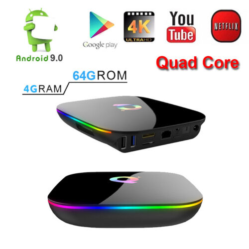 QBOX+ HDR Google Play Cloud 64GB/4GB DDR3 WiFi Android 9.0 S