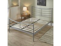 """Lucy"" King size metal bed frame"