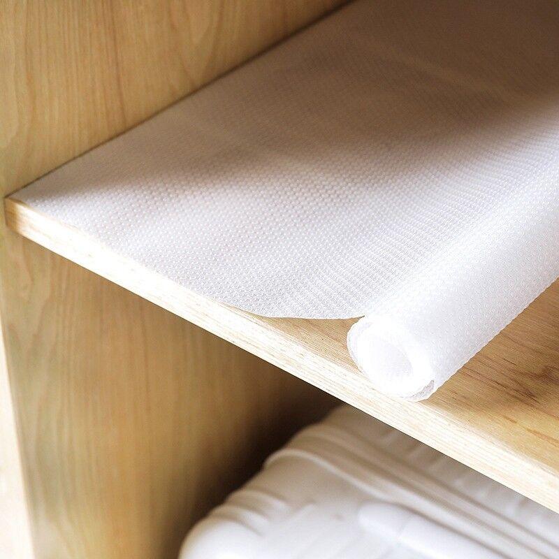 Details about Non Slip Drawer Mat Shelf Liner Cabinet Storage Pad Rubber  Kitchen Cupboard Hot
