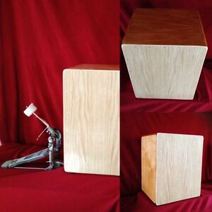Custom Cajon 3 n1 Bass drum with tunable snare & 2 trible sides.