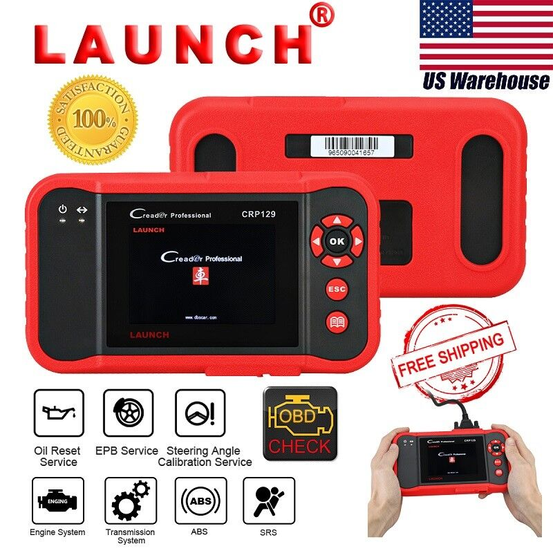 Launch Crp129 Obdii Diagnostic Scanner Abs Srs Better Than Crp123,creader Viii