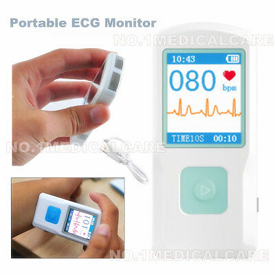Bluetooth Ecg Monitor Finger Touch Quick Ecg Checker Portable Ecg Machine