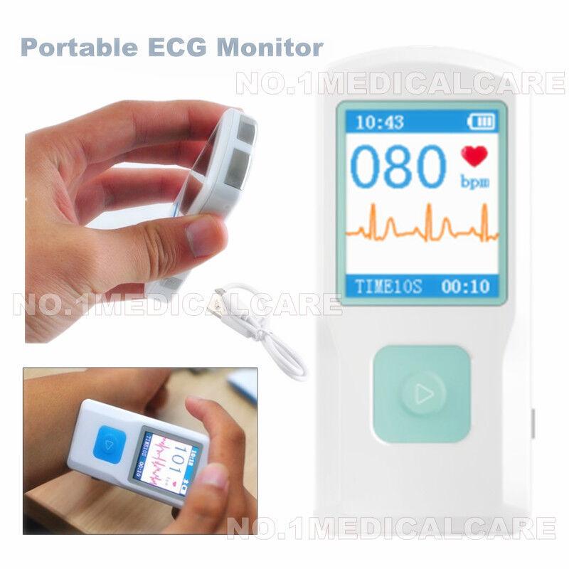 NEW BLUETOOTH ECG MONITOR FINGER TOUCH QUICK ECG CHECKER PORTABLE ECG MACHINE