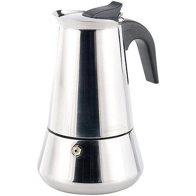Kaffeekocher: Espressokocher für 6 Tassen, für Induktion-, Gas- und Ceran-Feld