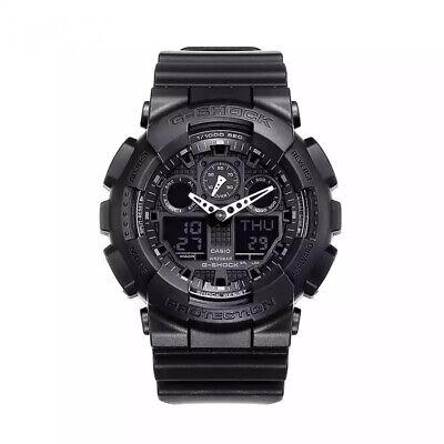 NEW G-Shock GA100-1A1 Men's Watch Black Resin Strap Chronograph