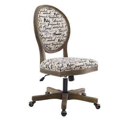 Linon Corden Paris Wood Upholstered Office Chair In Beige