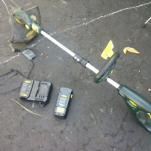 Yard works battery line trimmer