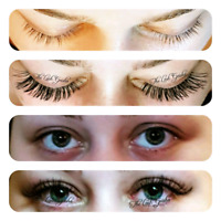 Eyelash Extensions January Special $70, Lash Lift for Vacation