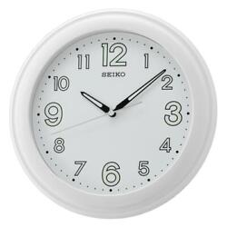 Seiko QXA721W LumiBrite White Dial Analog Quartz Wall Clock with Large Numbers