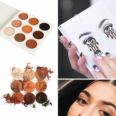 Women 9 Colors Eye Shadow Makeup Cosmetic Shimmer matte Palette Tool