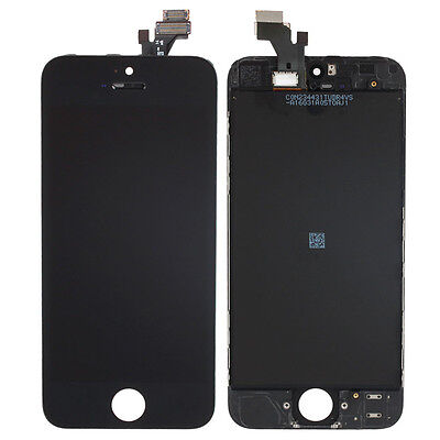 New Front Housing LCD Touch Digitizer Glass Screen Assembly for Iphone 5 Black  on Rummage