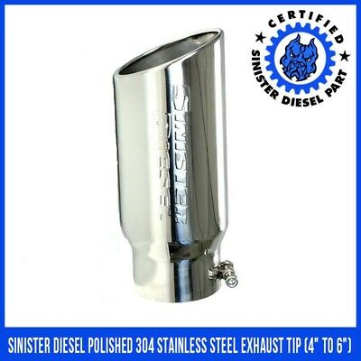 Sinister Diesel Polished 304 Stainless Steel Exhaust Tip (4