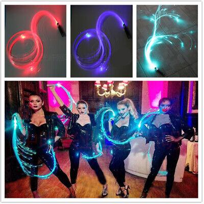 LED Fiber Optic Whip-360°Swivel Super Bright Light Up Rave Toy Flow Music Dance