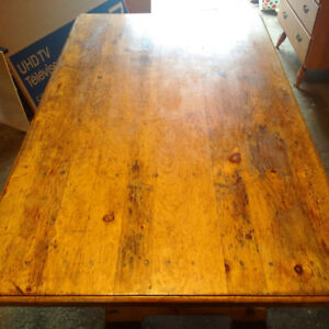 Antique Solid Pine Harvest Table