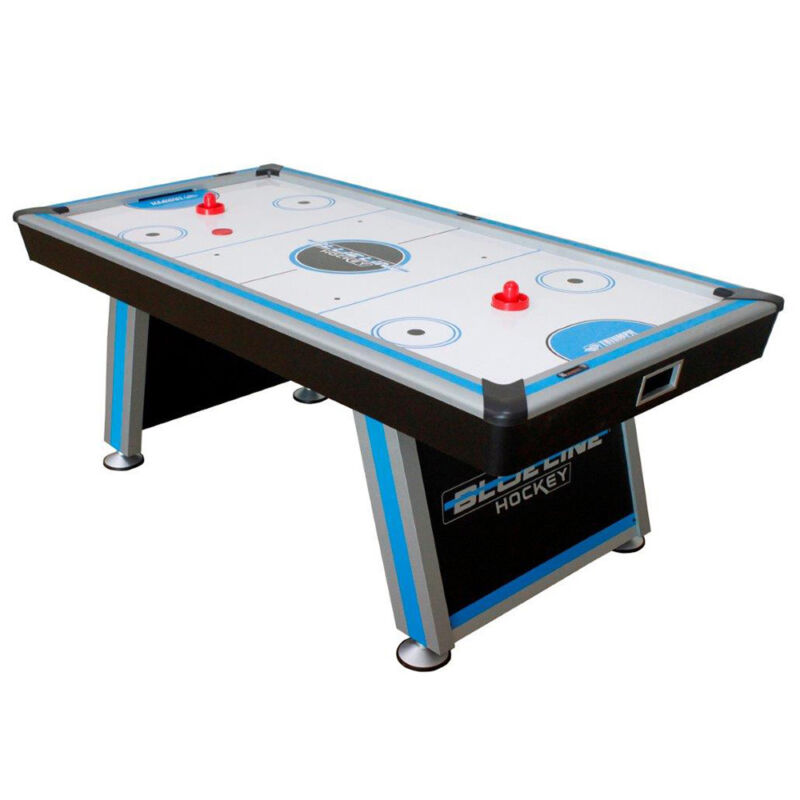 """Triumph Sports 84"""" Blue-Line Indoor Family Gameroom Air Powered Hockey Table"""