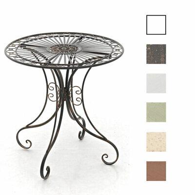 Tisch HARI Gartentisch Beistelltisch Metalltisch Eisen Terassentisch Shabby Chic