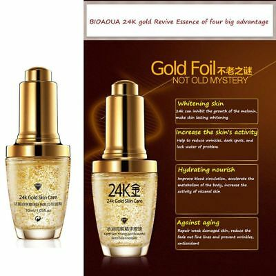 24K GOLD Collagen Essence Serum Skin Care Wrinkles Anti Aging Liquid Face Cream