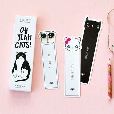 30Pcs Pack Kawaii Cat Paper Bookmark Stationery For Book Holder Message Card