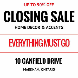 CLOSING SALE - UP TO 90% OFF HOME DECOR - HOME STAGING HAVEN!