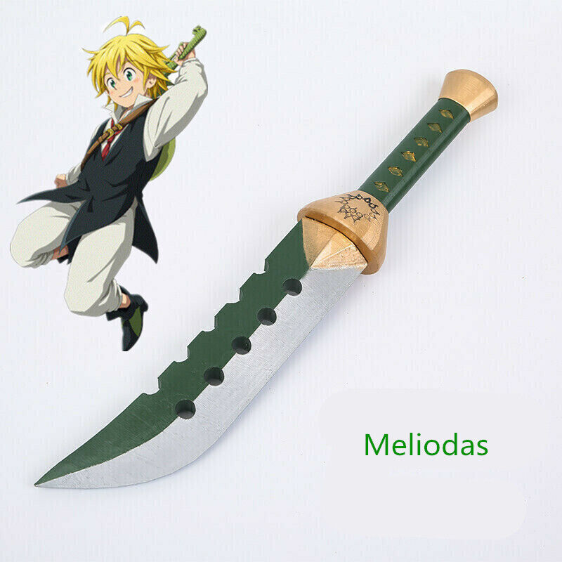 New The Seven Deadly Sins Meliodas Sword Cosplay Knife Props Accessory Gift