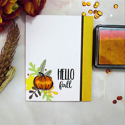 Scrapbooking Card Making For DIY Photo Album Card Halloween Pumpkin Clear Stamps](Making Halloween Cards)
