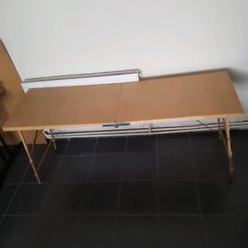 "Wooden Hardboard Folding Wallpaper Paste Pasting Table 35"" X 22"""