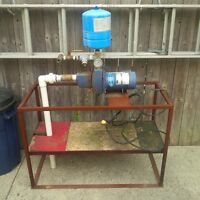 1/2 HP Sand Point Well pump and rig set up... As is.