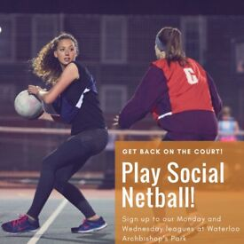 Play Social Netball in Waterloo - Archbishop's Park!