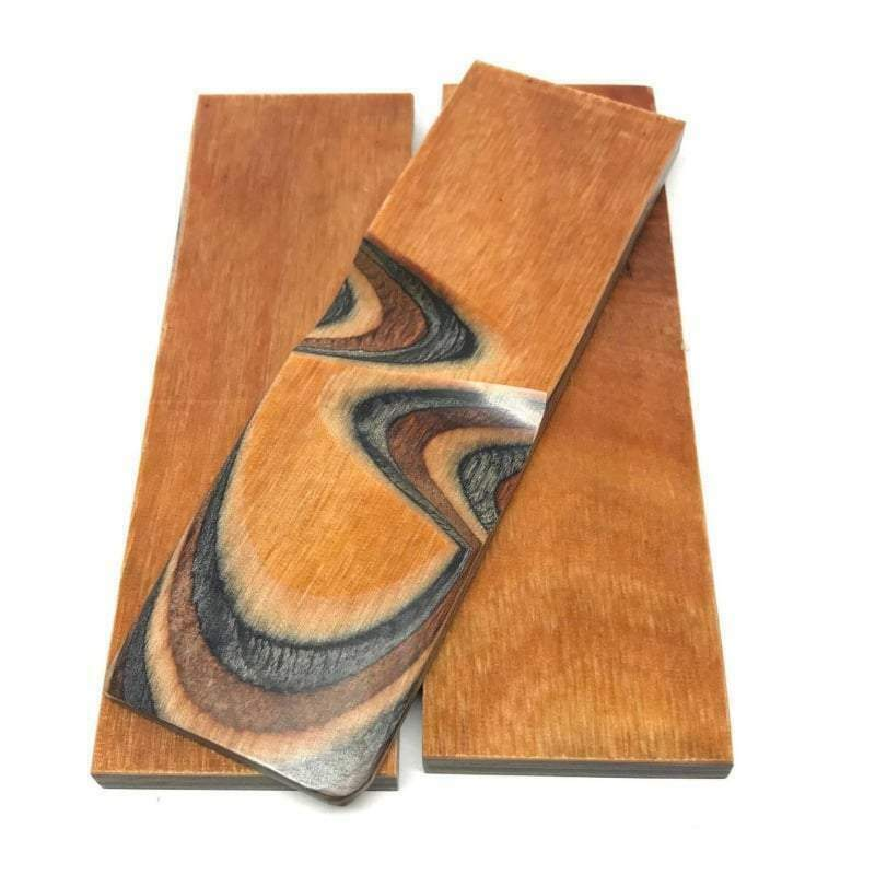 "Dymalux ""Buckskin"" Laminated Wood Knife Handle Scales Slabs 1/4"" x 1.5"" x 5"""