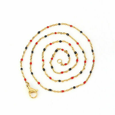 Stainless Steel Link Cable Chain Necklace Gold Plated Jewelry Findings Supplies - Necklace Supplies