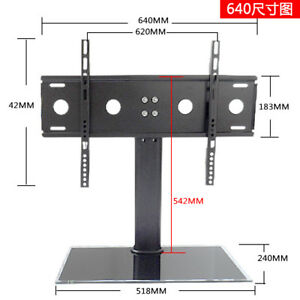 "LCD LED PLASMA TV FLAT PANEL Table Top Stand 37""-55"""