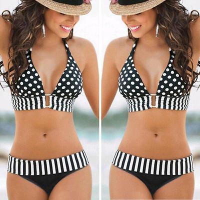 Damen Push-Up Bikini Set Oversize Badeanzug Padded Schwimmanzug Bademode Sexy