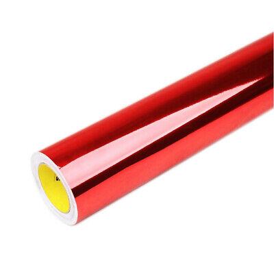PRE Rot Chrom Designfolie 30cm x 152cm Blasenfrei mit Luftkanäle