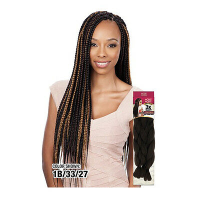 Model Model Trio Pack 100% Kanekalon 3X Giant Jumbo Braid Weaving Extension Hair