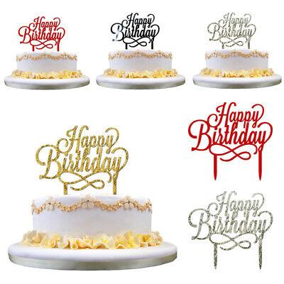 Happy Birthday Acrylic Cake Topper Candle Party Supplies Fashion Decoration (Happy Birthday Fashion)