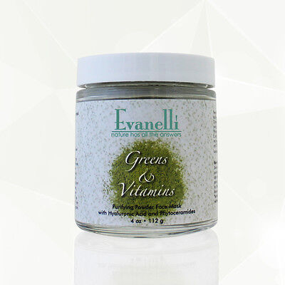 Greens & Vitamins Face Mask with Hyaluronic Acid, Phytoceramides, and Vitamins