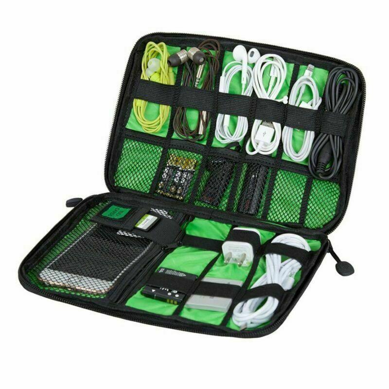 Electronic Accessories Organizer Storage Bag Travel Case Pou