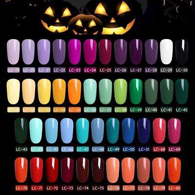 LILYCUTE Gel Halloween Party UV LED Lamp Nail Art Soak Off Gel Nail Polish 8ml (Uv Halloween)