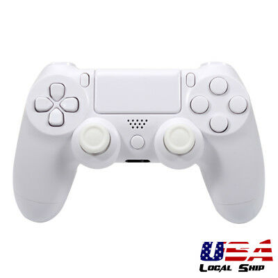 Solid White Full Housing Shell Buttons Replacement Parts for Sony PS4 Controller