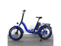 Foldable Electric Bike in Blue 500w/48v New in box