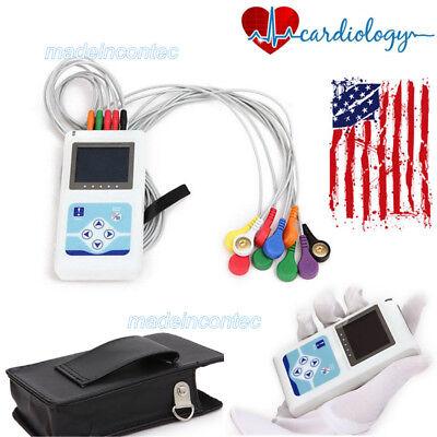 12-channel Ecgekg Holter Systemrecorder Monitor Analyzer Software Tlc5000 New
