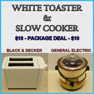TOASTER & SLOW COOKER COMBO - PACKAGE DEAL $10.