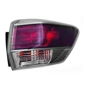 2014-2016 Toyota Highlander Passenger Side Outer Tail Light Assembly - CAPA Certified ®