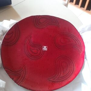New - Red Platter Dish, with gold base